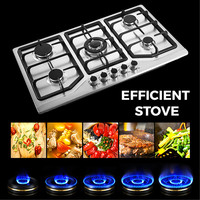 5 Burner Stainless Steel gas cooker stove 86cm kitchen appliances built in gas hob