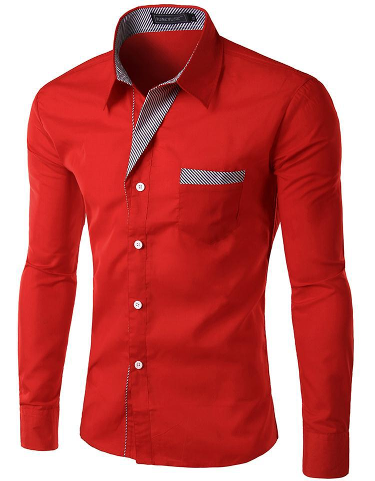 New Dress Fashion Quality Long Sleeve Shirt Men.Korean ...
