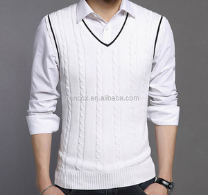 sleeveless sweater vest for men cashmere knit sweater