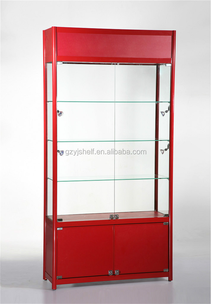 wall display cabinets for collectibles boutique store. Black Bedroom Furniture Sets. Home Design Ideas