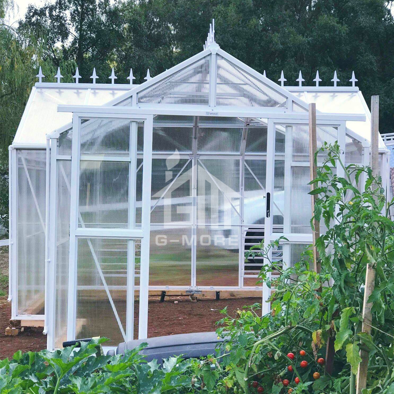 G-MORE Luxury Grand Walk in Orangery Greenhouse 12.5'x12' PC Sunrooms / 8mm Polycarbonate