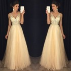Ladies Elegant Gold Sequin Sleeveless Dress Tulle Lace Princess Bride Long Dresses Gown Prom Formal High Waist Party Clothes