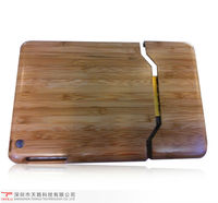 Two piece Assembly Carbonized Bamboo case for Mini iPad with retail package