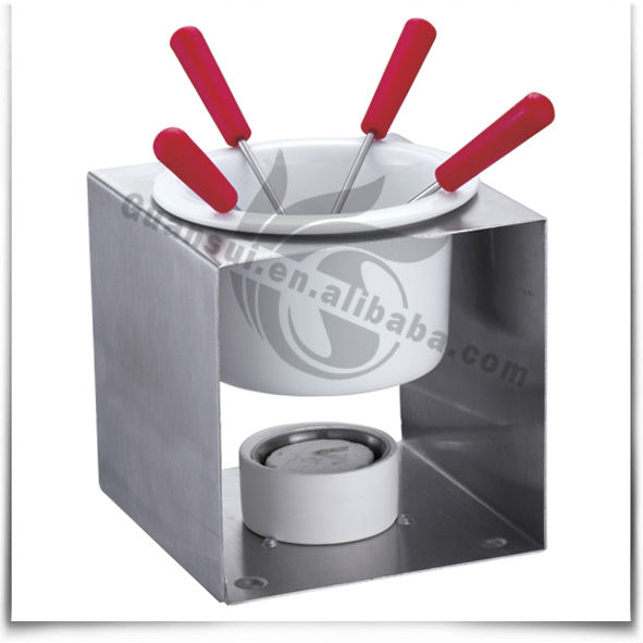 Keramische Container Metalen Rvs Chocolade Kaas Fondue Set Melting Pot