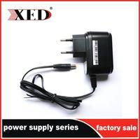 CE certification XED Power adaptor 5V 1A 2A output safety mark for set top box EU plug type