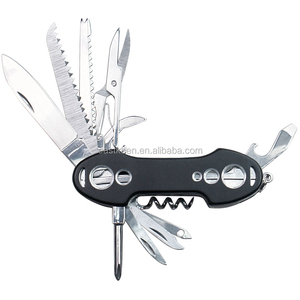 Black Multi function Swiss Pocket Knife