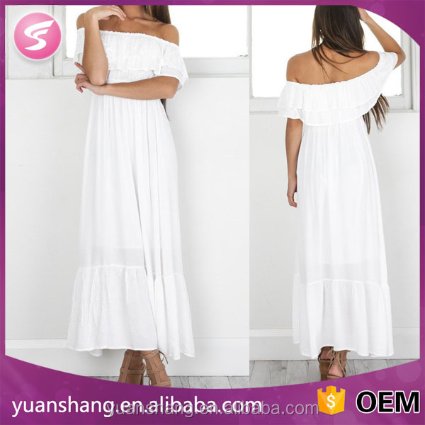 2017 White Off Shoulder Dress Fashion Women Clothing Wholesale