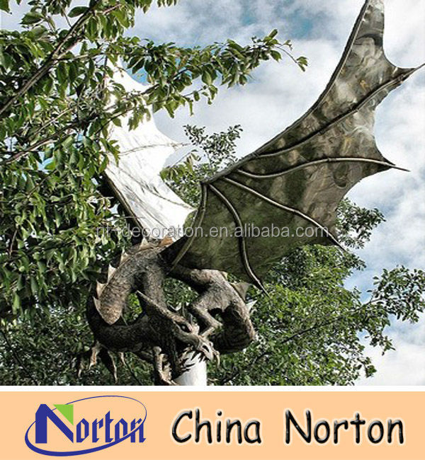 flying bird/dinosaur stainless steel dragon statue NTS-163