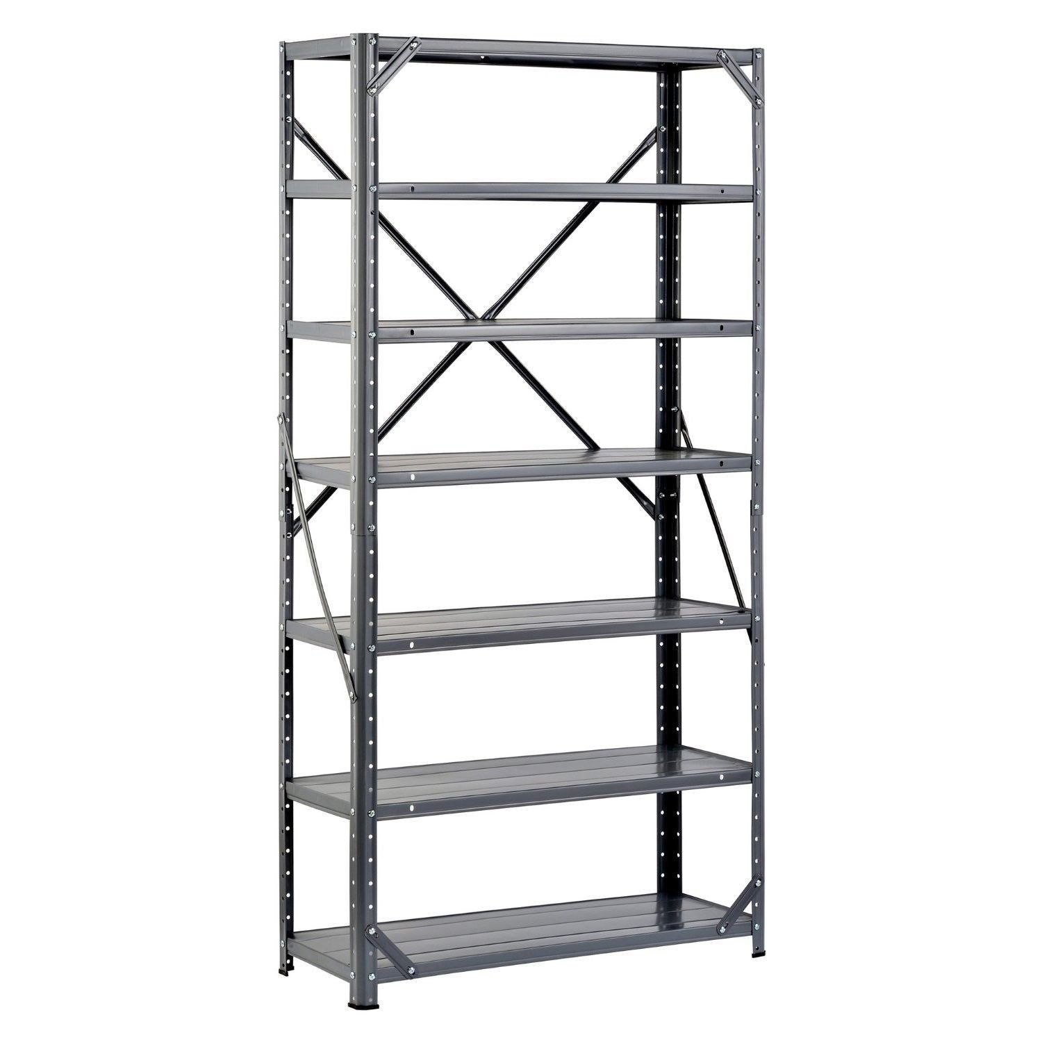 Cheap metal storage shelf unit find metal storage shelf for Inexpensive shelving