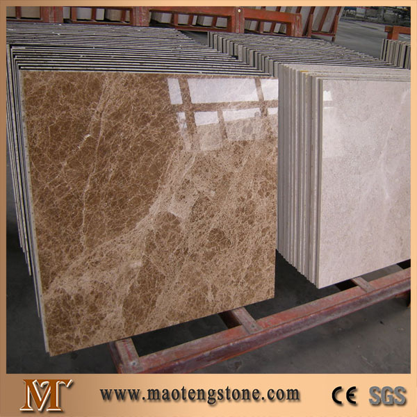 Imported Emperador Light Polishing Surface Marble Tile