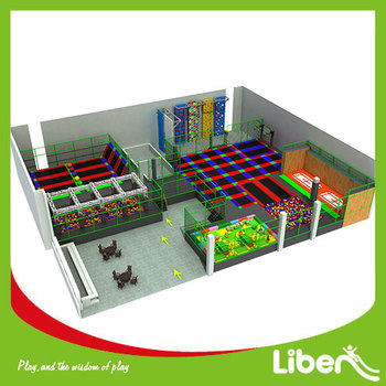 new design large foam pit basketball court dodge ball climbing structure commercial liben indoor trampoline park