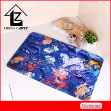 heated printing pvc backing prayer bath mat or rugs for home decorative carpet floor accessories