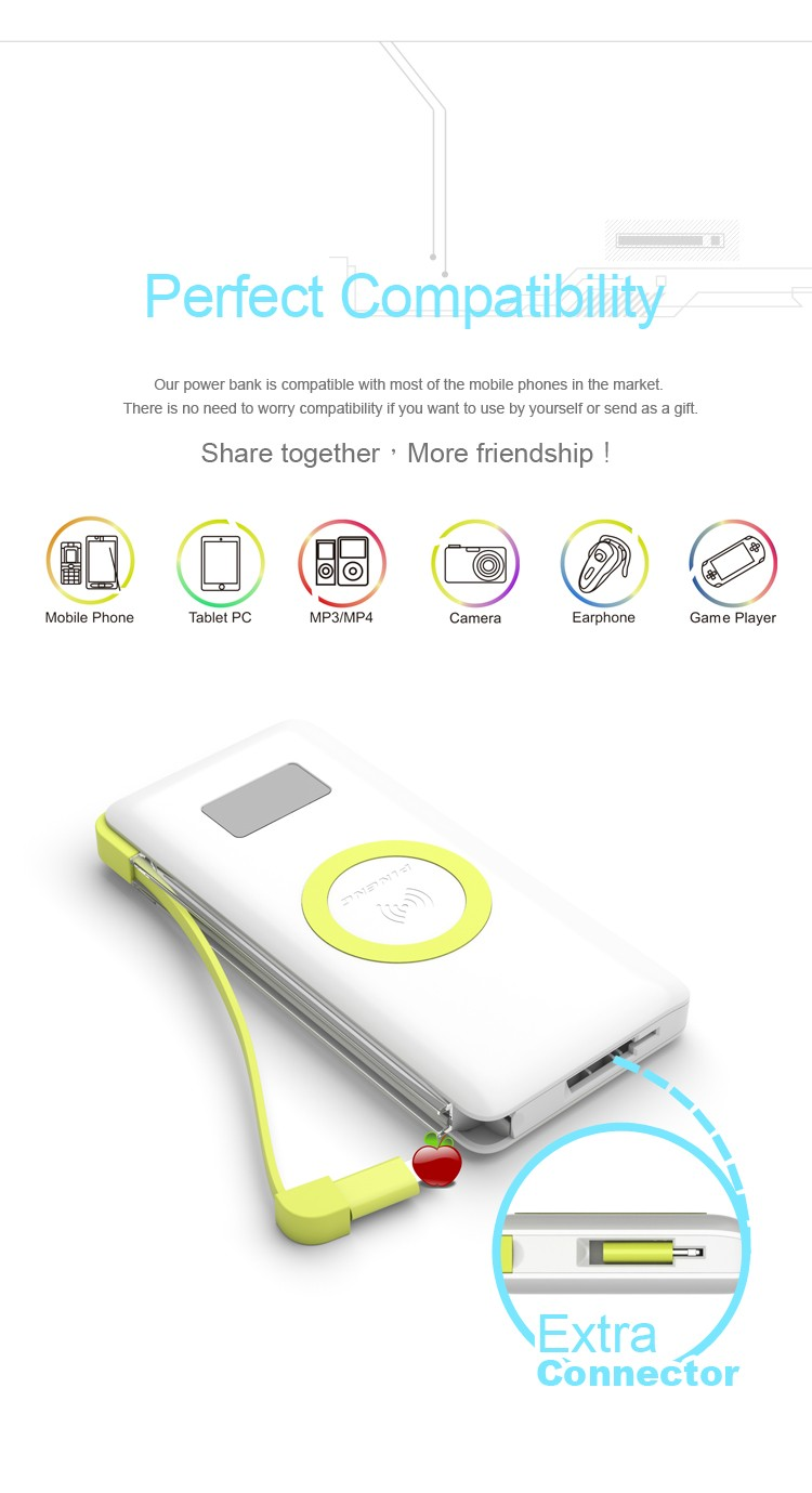 PINENG PN-888 QI Wrieless charging External Power Battery