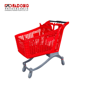 Convenience Store Disabled Push Cart Wheel For Plastic Shopping Cart