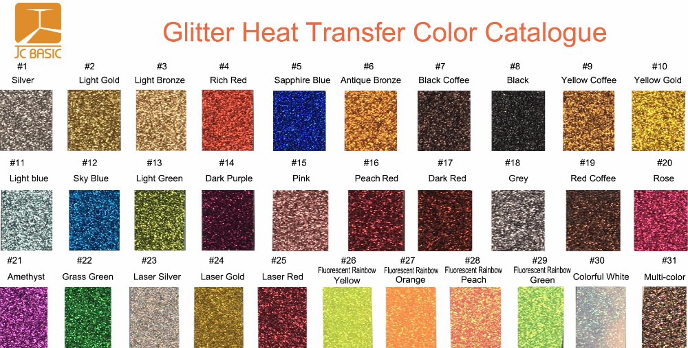 "10"" x 10"" high quality heat transfer vinyl glitter for clothing"