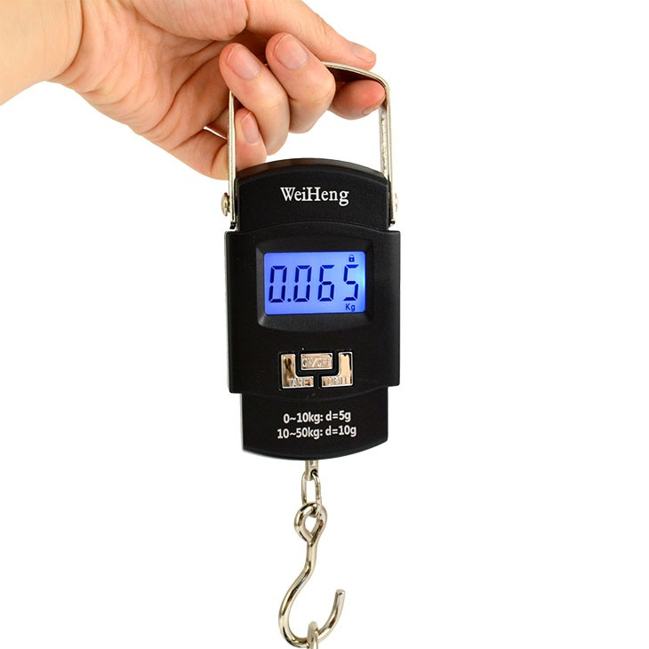 Max Load 50kg Black Portable Electronic Digital Weighing Luggage Hanging Scale Durable Scales