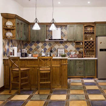 Custom made American style retro kitchen design