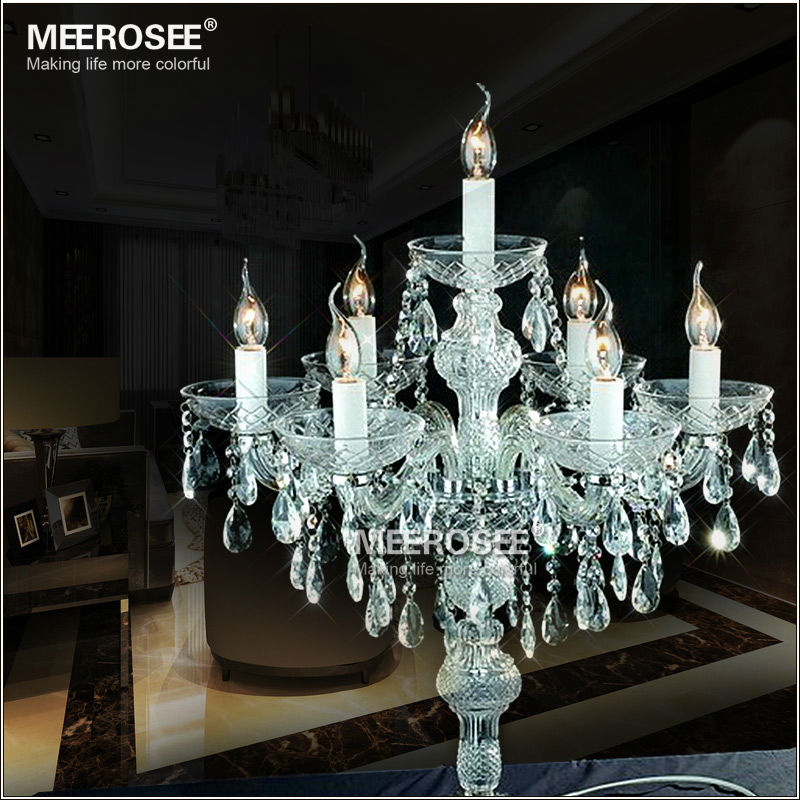 Lovely Wholesale Crystal Table Top Chandelier Candelabra Wedding Decoration  Centerpieces MT2630