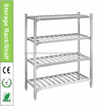 kitchen vegetable storage rack/ food stainless steel kitchen storage
