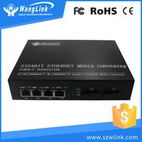 Internal Power Supply 2 Fiber and 4 RJ45 Ports Gigabit Ethernet Fiber Media Converter