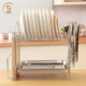 High quality Stainless Steel Dish Rack Dryer Drainer Tray Plate Cup Storage
