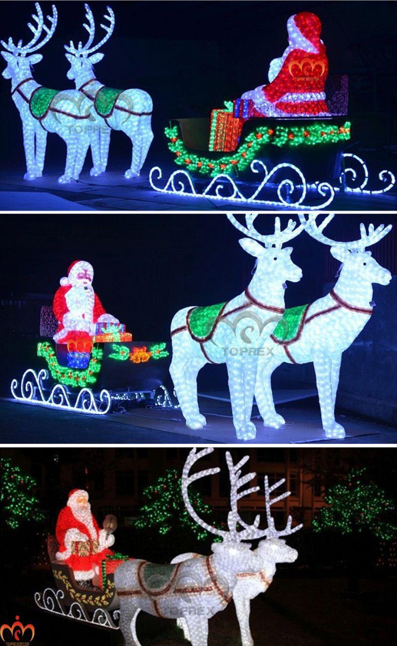 Toperx Schattige Rendieren Arreslee Led Knippert Santa - Buy Led ...