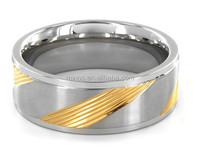 Two-tone Stainless Steel Diagonal Groove Ring, Wholesale Bulk Wholesale Napkin Ring