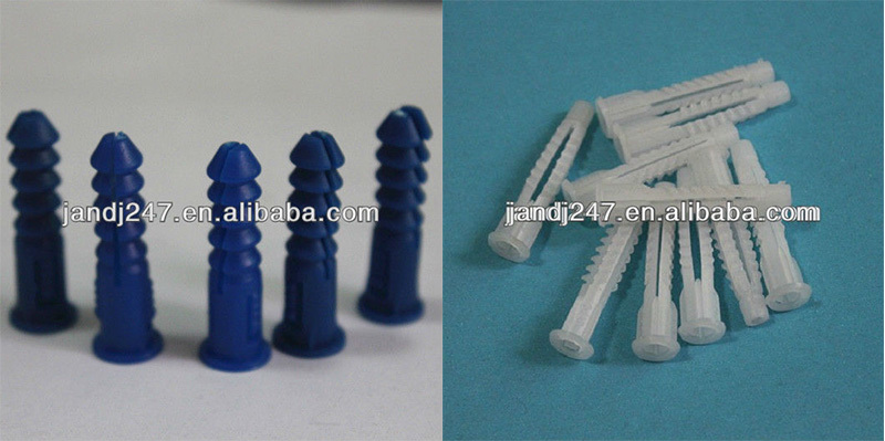 6*25mm Wall plug plastic anchor, expansion plugs with screw from China