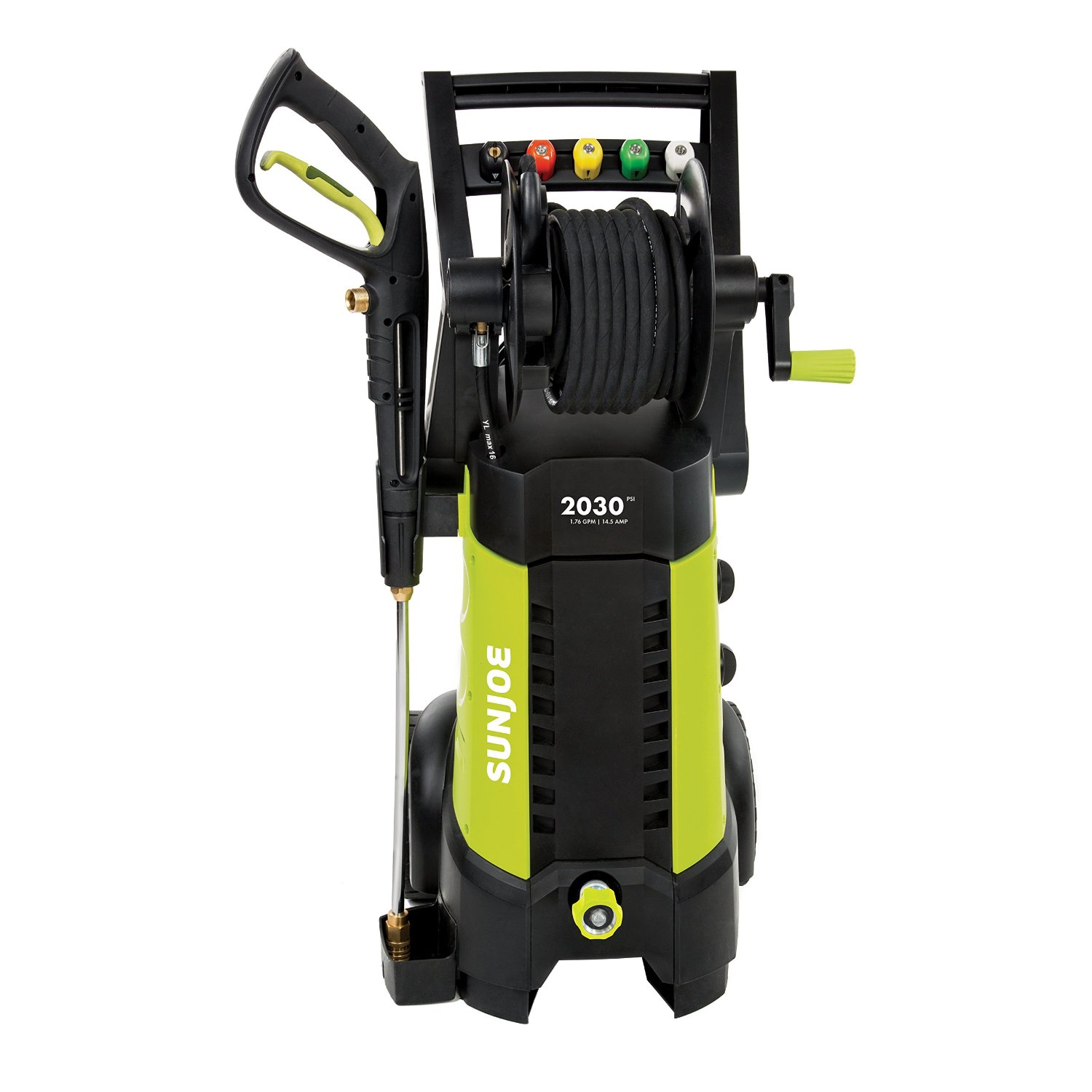 Snow Joe Sun Joe SPX3001 2030 PSI 1.76 GPM 14.5 AMP Electric Pressure Washer with Hose Reel, Green