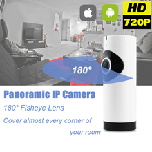Home Security Surveillance Fisheye Lens 720P IP Camera WiFi Baby Monitor Wireless Two Way Audio Panoramic CCTV Camera Indoor