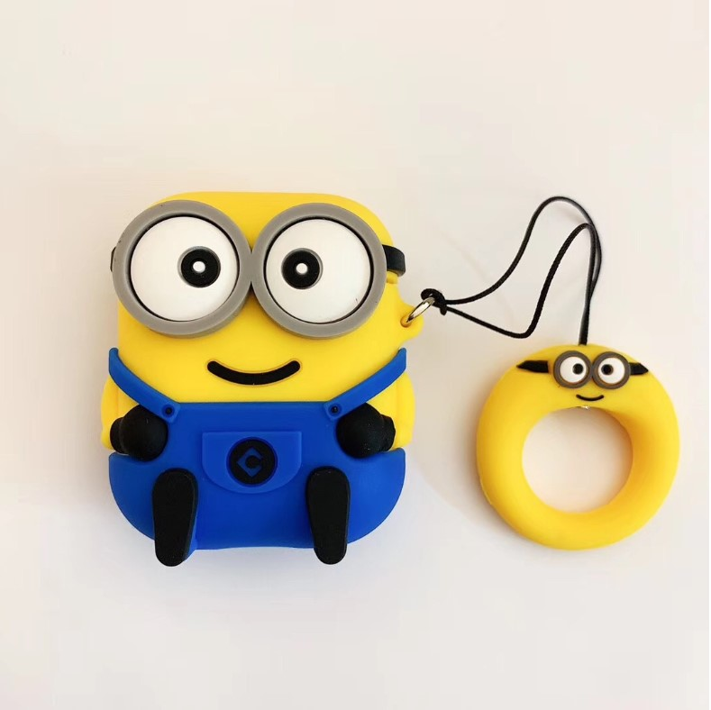 For airpods minion case cover with jeans new
