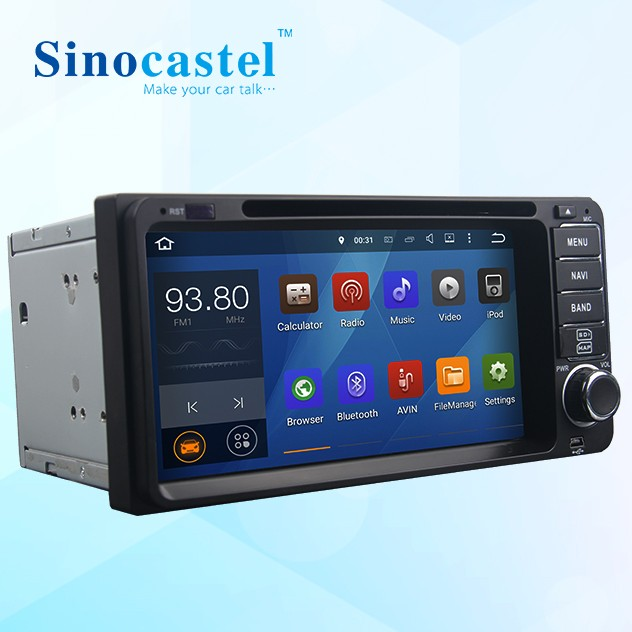 Manufacturer <strong>android</strong> 5.1.1 quad core car dvd player with reversing camera bluetooth gps for <strong>Toyota</strong> <strong>universal</strong> cars