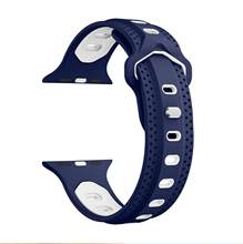 Силиконовый ремешок для наручных часов Apple Watch 38 мм/40 мм 42 мм/44 мм; спортивная обувь; женская Для мужчин ремешок для умных часов для наручных ч...(China)