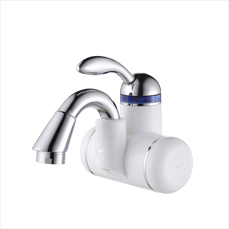 3KW safe Fresh flowing hot white kitchen faucet electric water heater faucet