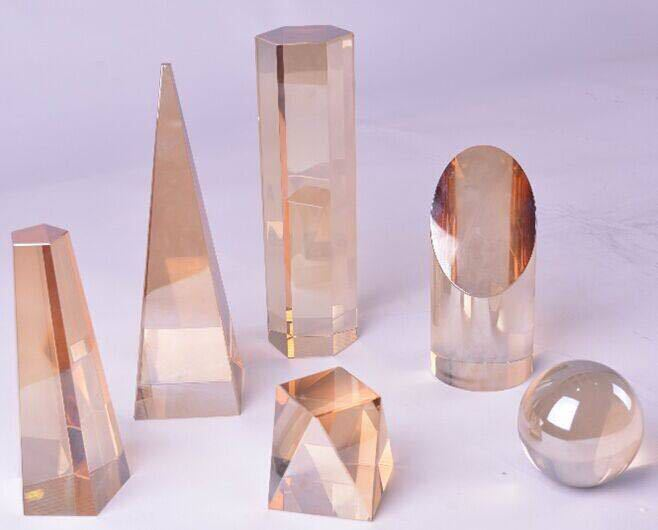 Modern minimalist Nordic model room geometric frosted crystal glass column paperweight jewelry ornaments