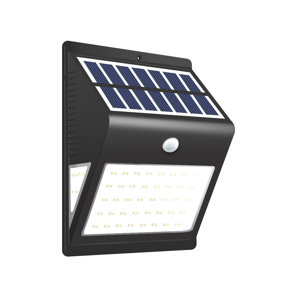 BULEKEM Solar Lights Outdoor,Wireless 46 LED Motion Sensor Solar Lights with Wide Lighting Area,Easy Install Waterproof Security Lights for Front Door,Back Yard,Driveway,Garage,Patio,etc...