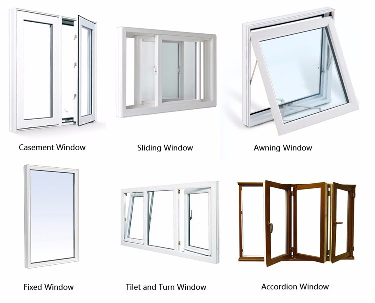 American new construction PVC crank casement window with nailing flange