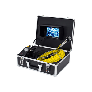 DVR record 20m cable 7'' TFT LCD Monitor CCTV Sewer Pipe Inspection Underwater SONY CCD Camera 8pcs LED lights endoscope camera