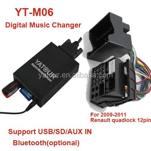 Yatour car radio USB/SD/AUX MP3 player for Renault(Yatour Digital Music Changer YT-M06)