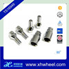 4PC 12X1.5 CHROME STEEL WHEEL LUG BOLT LOCK SET WITH 2 KEYS