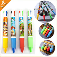 Wholesale 4 color plastic big ballpoint pen