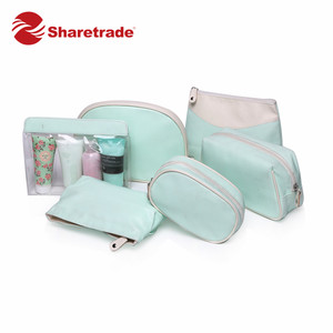Toiletry Pouch Travel Cosmetic Bag Elegant PU Makeup Bag Set