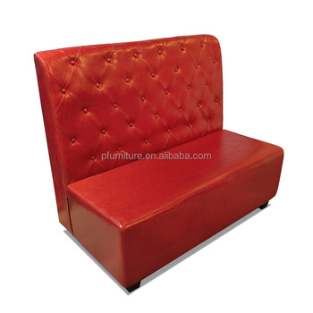 Kw160089 Fast Food Furniture Eatery Pu Leather Booth Sofa