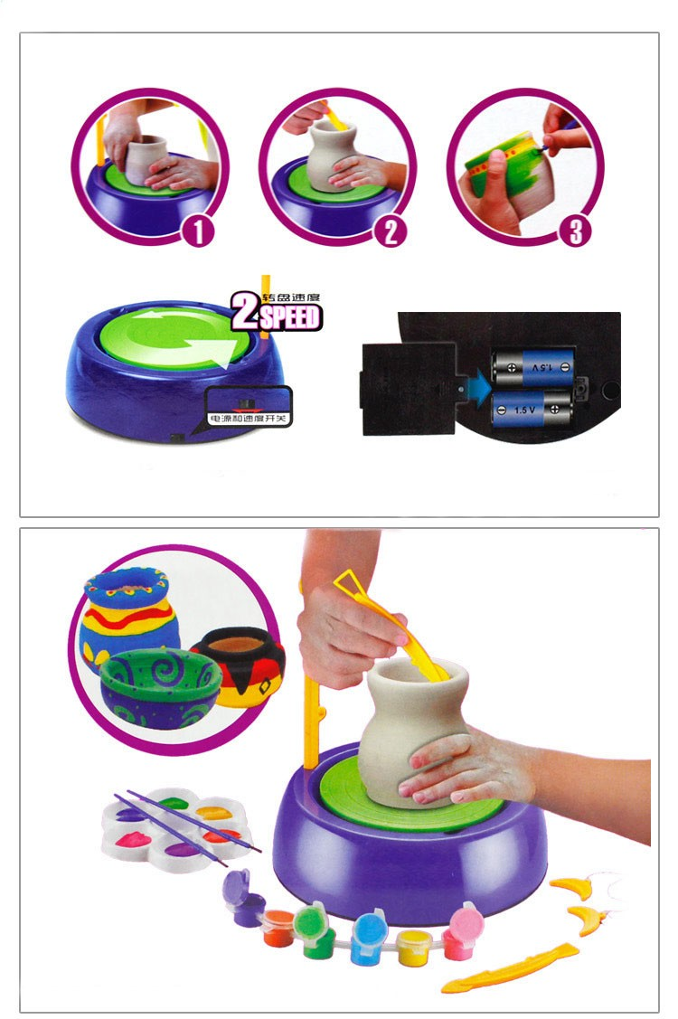 Educational DIY Pottery Wheel Clay Pottery Making Toys