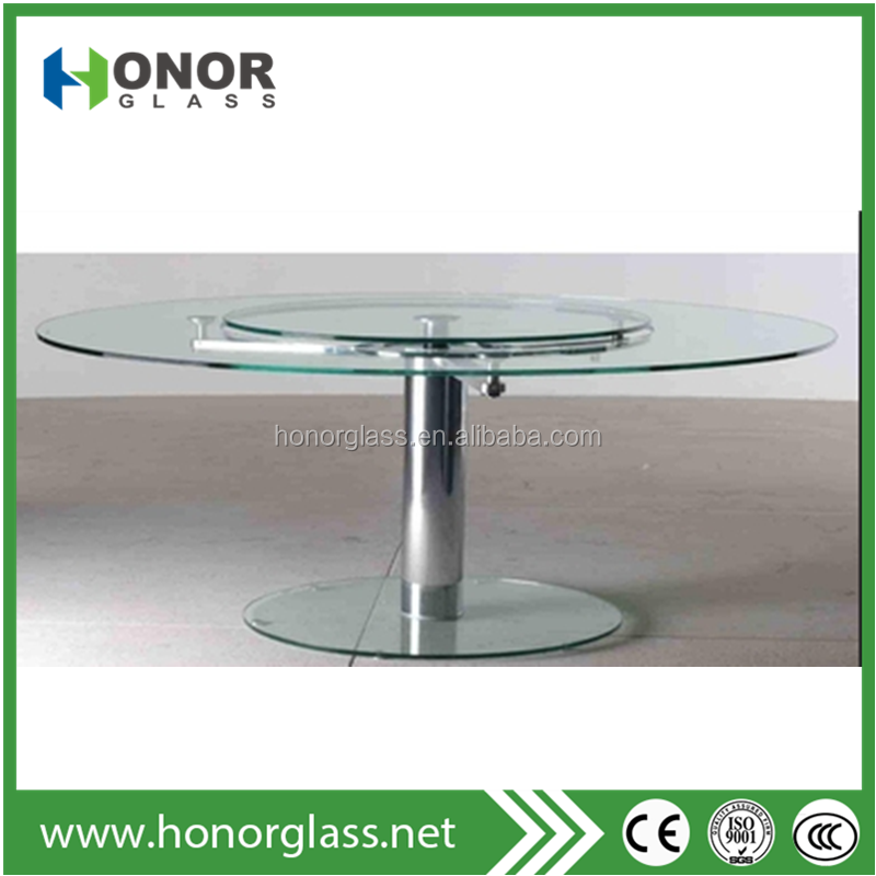heavy thick round high top glass dining table price