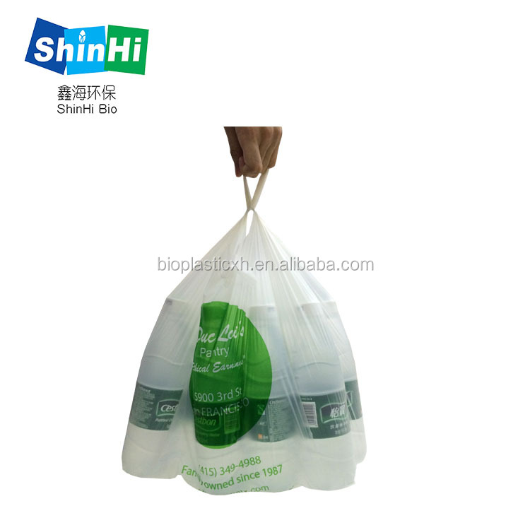 promotional custom safety plastic t shirt bag with environmental material