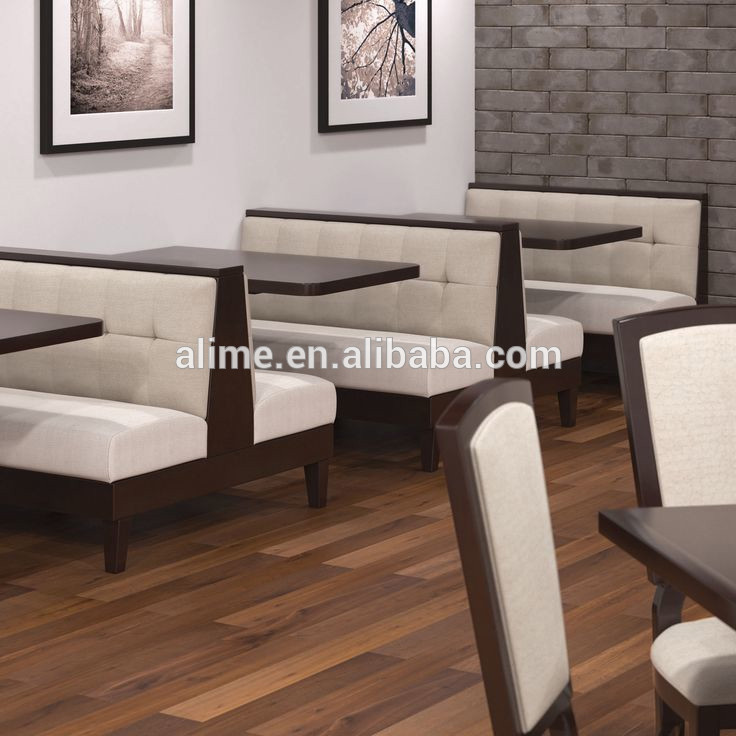 Restaurant dining tables and chairs booth sofa diner for Dining room tables booth style