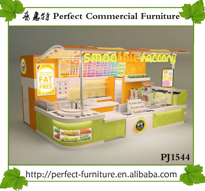 Retail fruit juice shop interior design juice bar counter for Juice bar floor plan