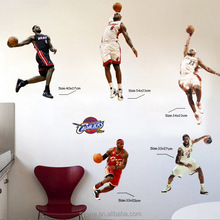 Syene new sports characters basketball wall stickers kids room decoration 3d stickers for living room home decor wall art mural