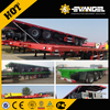 Tri-axle 20ft 40ft flatbed trailer , 40 ton flatbed semi trailer , flatbed trailer with container